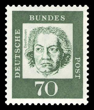 Ludwig von Beethoven op postzegel